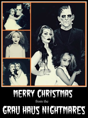 Ribbet collagechristmas card 2012 Frankenstein