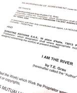 I Am The River - French Edition Contract